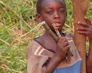 Junge aus Namibia