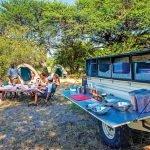 Botswana Bushways Safari Frühstück im Camp Iwanowskis Reisen - afrika.de