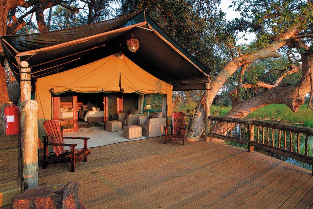 Botswana Gunns Camp Zeltunterkunft Iwanowskis Reisen - afrika.de