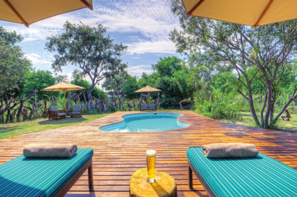 Botswana Okavango Delta Kanana Camp Pool Iwanowskis Reisen - afrika.de