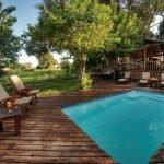 Botswana Okavango Delta Little Kwara Camp Pool Iwanowskis Reisen - afrika.de