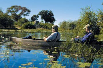 Botswana Okavango Delta Mokoro Fahrt Bushways Iwanowskis Reisen - afrika.de