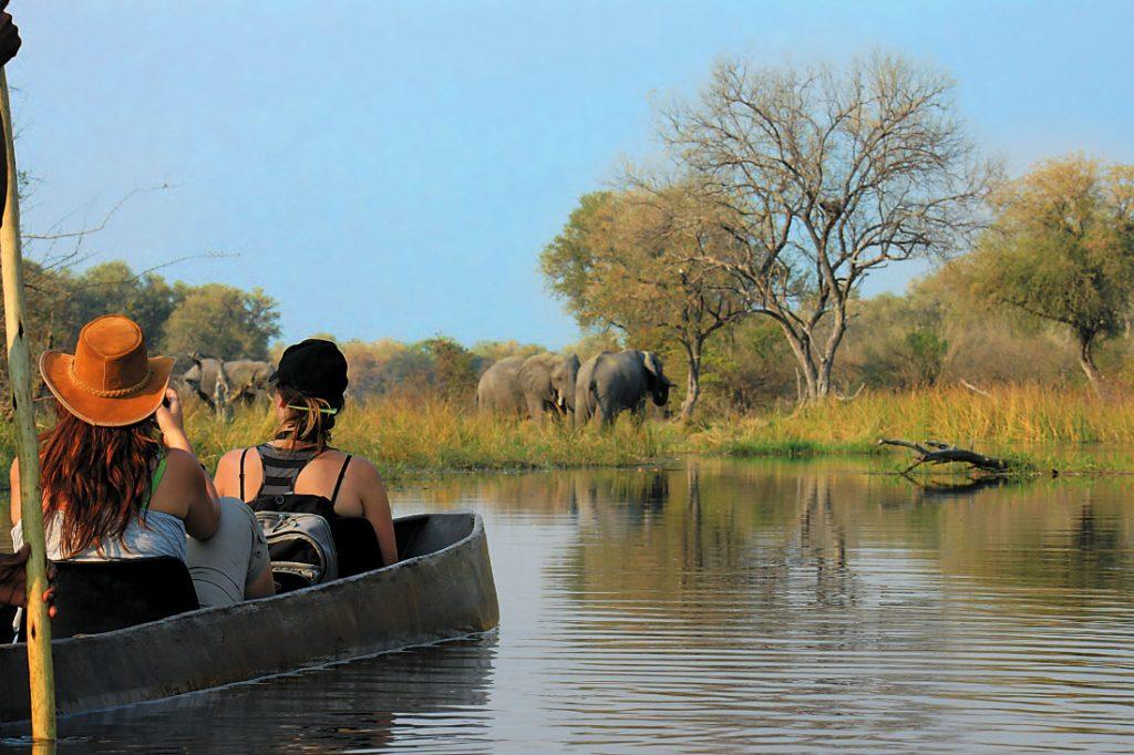 Botswana Moremi Wildlife Reserve Sango Safari Camp Mokorofahrt Iwanowskis Reisen - afrika.de