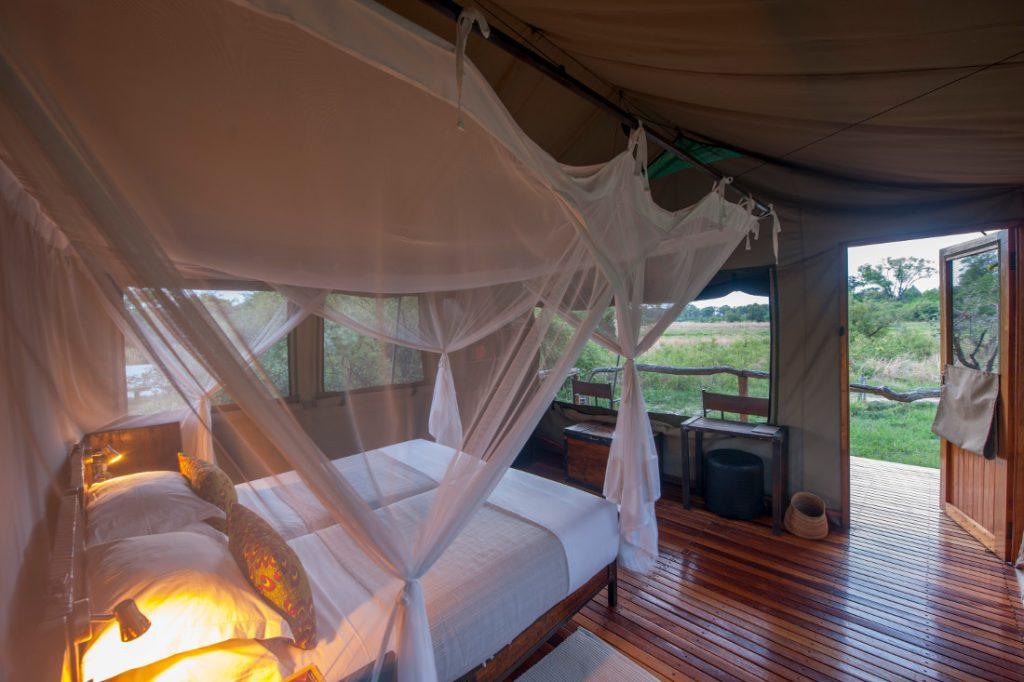 Botswana Moremi Wildlife Reserve Sango Safari Camp Zeltunterkunft Iwanowskis Reisen - afrika.de