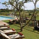 Botswana Savute Elephant Lodge Pool Iwanowskis Reisen - afrika.de