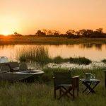 Botswana Linyanti Region Selinda Camp Sonnenuntergang Iwanowskis Reisen - afrika.de