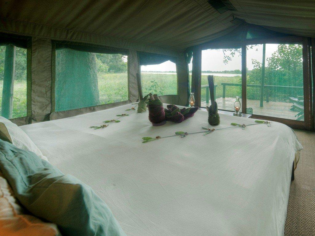 Botswana_Kwara Camp_Zeltunterkunft