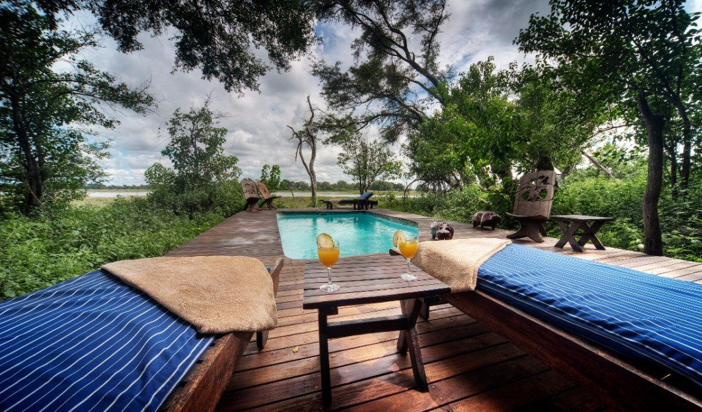 Botswana Kwara Camp Pool Iwanowski's Reisen - afrika.de