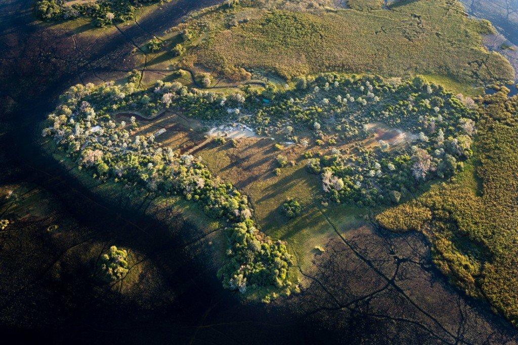 Botswana Pelo Camp Luftaufnahme Iwanowski's Reisen - afrika.de