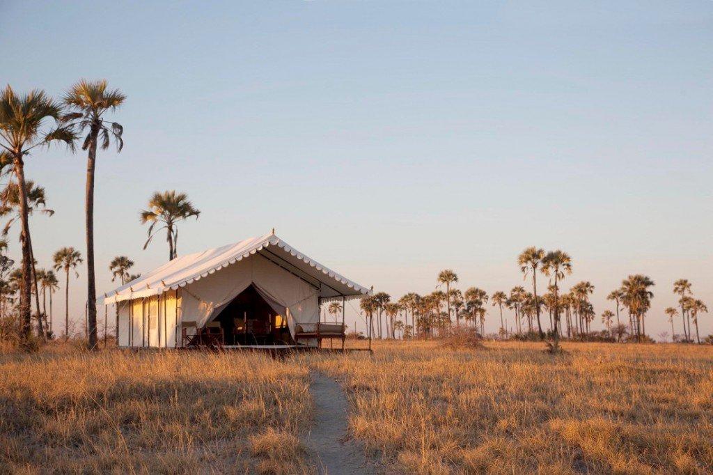 Botswana Makgadikgadi Salzpfannen San Camp Zeltunterkunft Iwanowskis Reisen - afrika.de