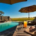 Botswana Okavango Delta Shinde Camp Pool Iwanowskis Reisen - afrika.de