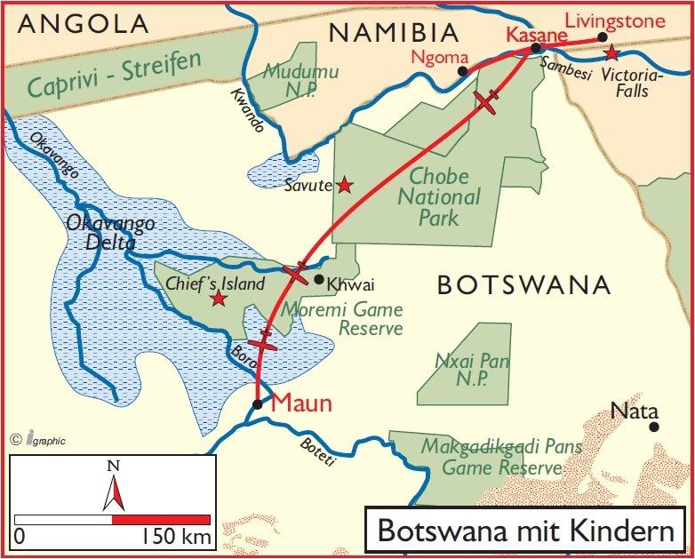 Botswana Safari mit Kindern Iwanowskis Reisen - afrika.de