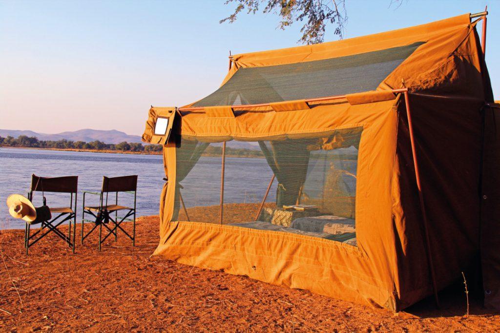 Simbabwe Mana Pools National Park Camp Zambezi Zeltunterkunft Iwanowskis Reisen - afrika.de