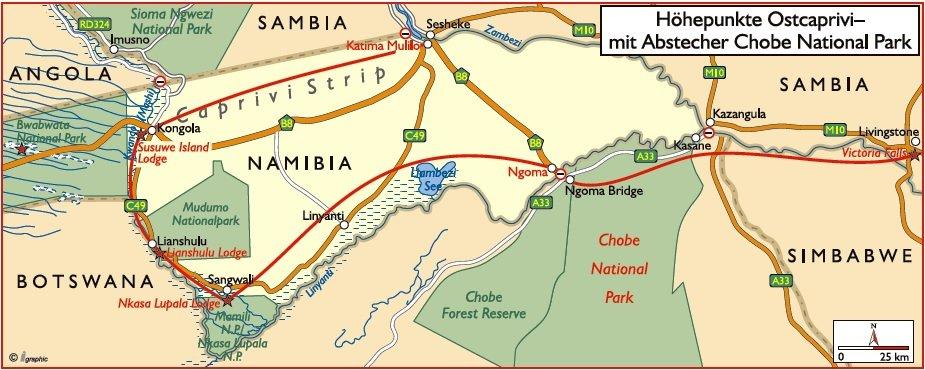 Namibia Höhepunkte Ostcaprivi Iwanowskis Reisen - afrika.de