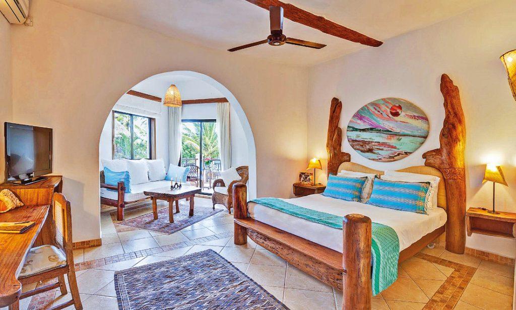 Kenia Diani Beach Afro Chic Zimmer Suite Iwanowskis Reisen - afrika.de
