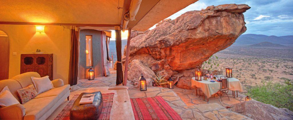 Kenia Saruni National Park Saruni Samburu Lodge Zimmer Iwanowskis Reisen - afrika.de