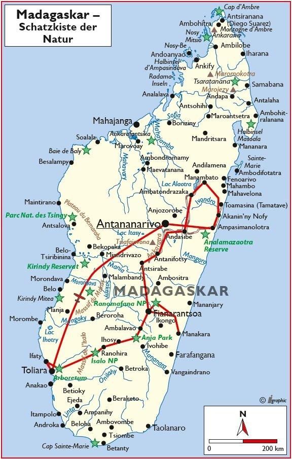 Madagaskar Rundreise Antananarivo Übersichtskarte Iwanowskis - afrika.de