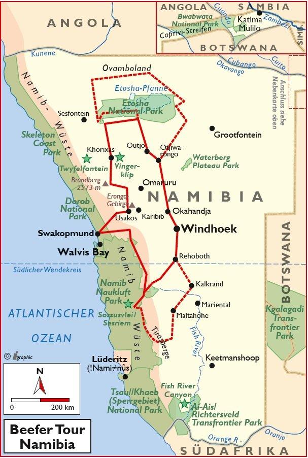 Namibia Beefer Tour Rundreise Selbstfahrer Iwanowskis Reisen - afrika.de