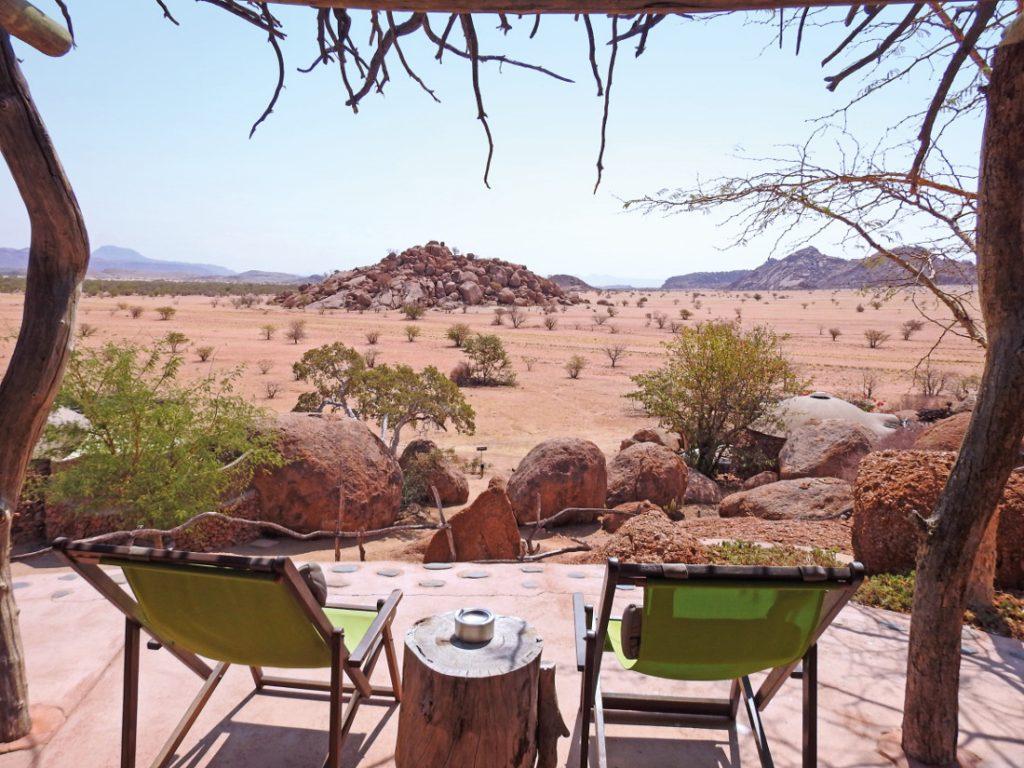 Namibia Khorixas Camp Kipwe Ausblick Iwanowskis Reisen - afrika.de