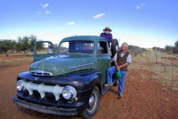 Namibia-Farm-Heimat-Besitzerpaar