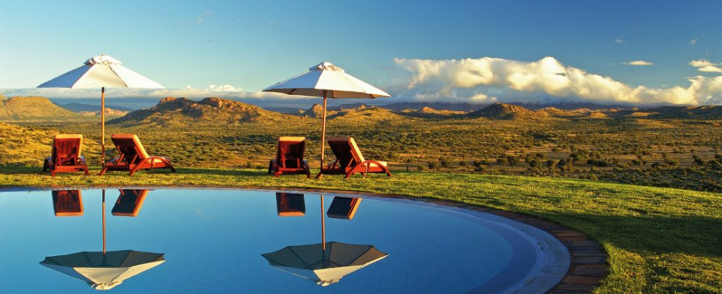Namibia Windhoek Goche Ganas Nature Reserve Pool Iwanowskis Reisen - afrika.de