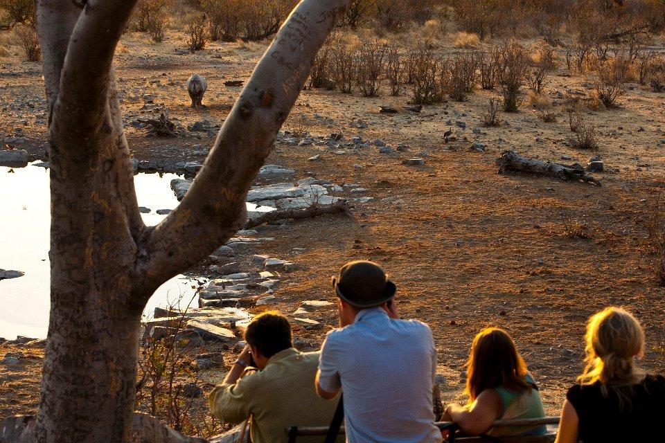 Namibia Etosha Nationalpark Halali Camp Wasserloch Iwanowskis Reisen - afrika.de