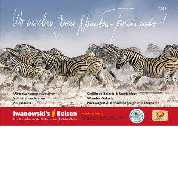 Der neue Namibia-Reisen Katalog 2016