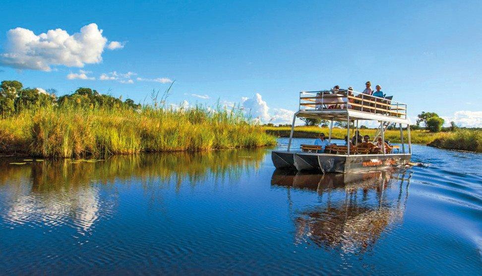 Namibia Bwabwata National Park Nambwa Tented Lodge Bootsfahrt Iwanowskis Reisen - afrika.de