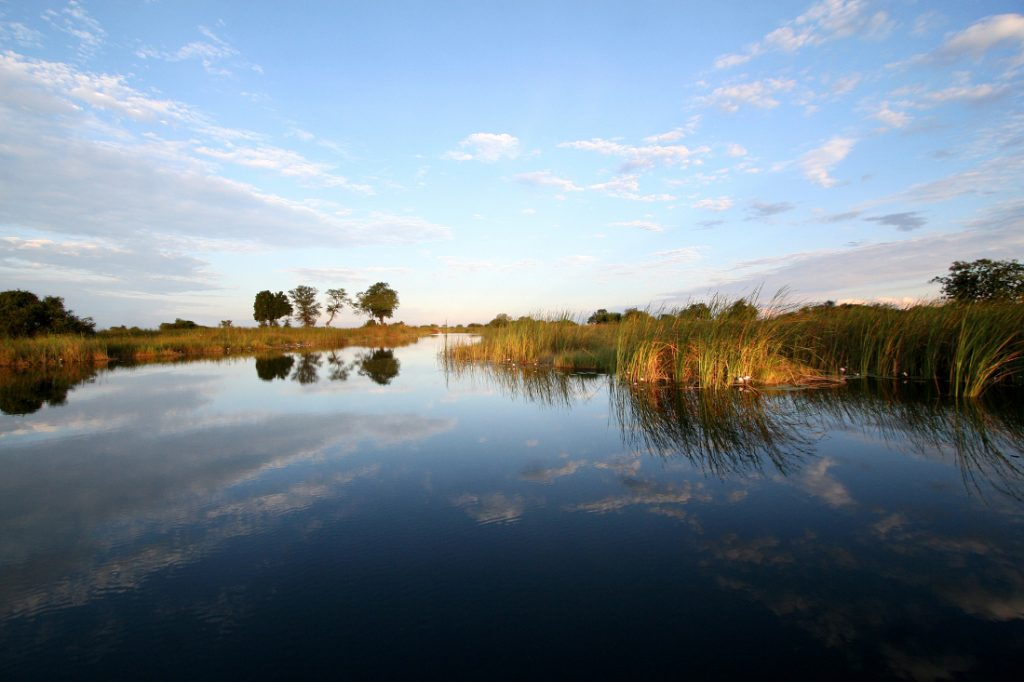 Namibia Ostcarprivi Mamili National Park Nkasa Lupala Lodge Wasserkanal Iwanowskis Reisen - afrika.de