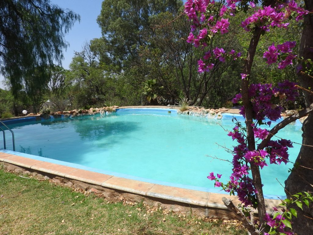 Namibia nahe Windhoek Okambara Elephant Lodge Pool Iwanowskis Reisen - afrika.de