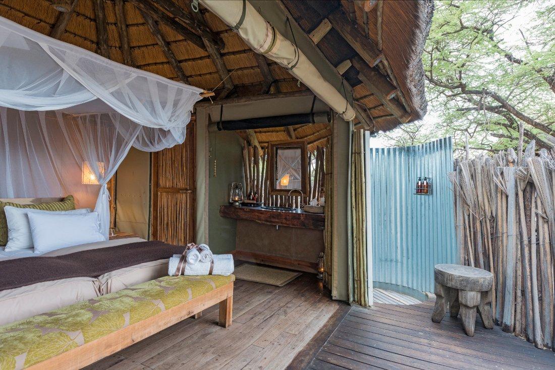 Namibia Etosha National Park Onguma Tree Top Camp Unterkunft Iwanowskis Reisen - afrika.de