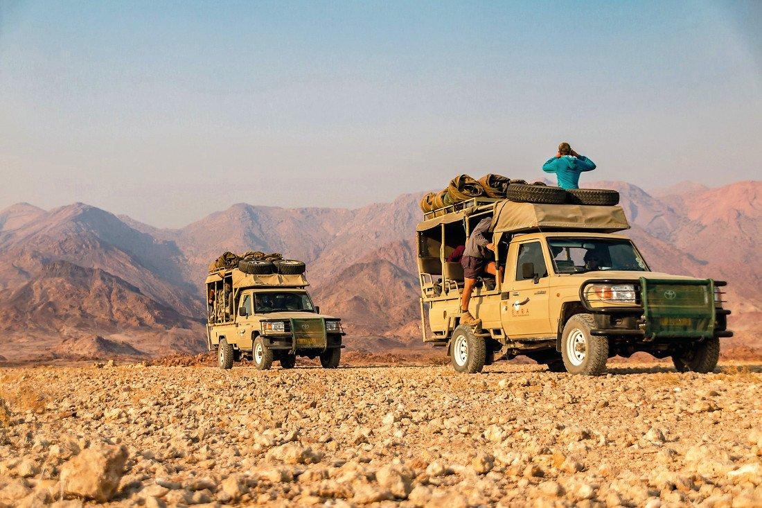 Namibia Ugab Fluss Ozondjou Trails Pirschfahrt Iwanowskis Reisen - afrika.de