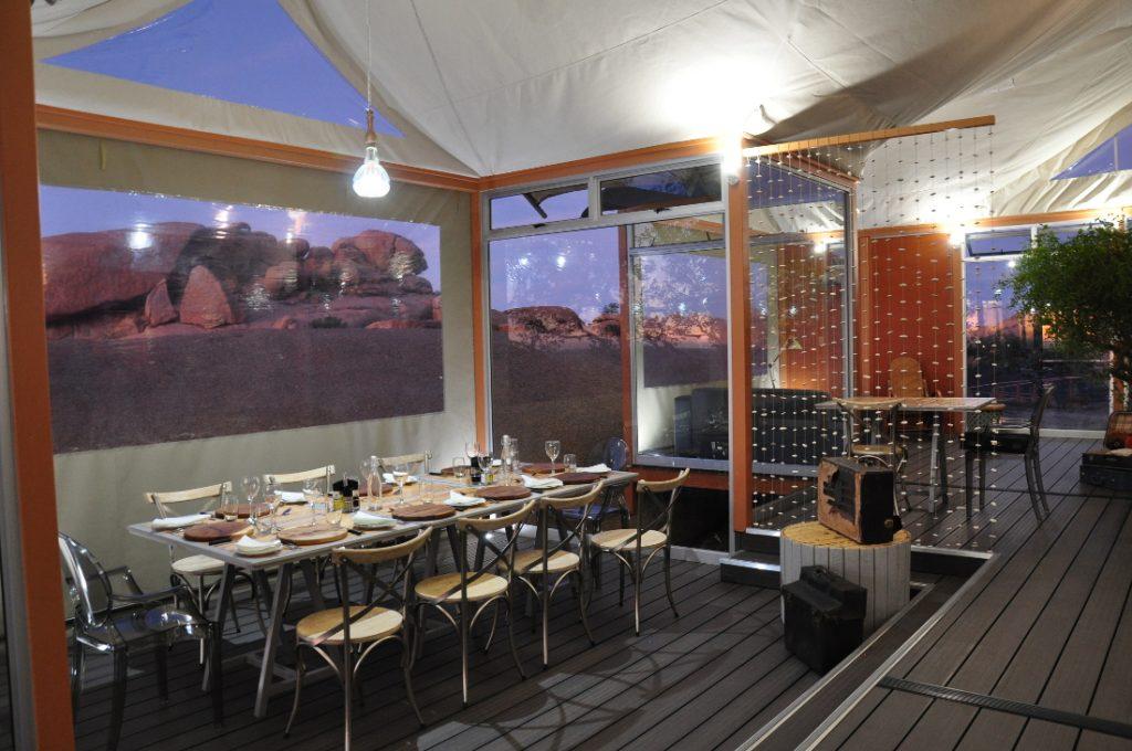 Namibia Spitzkoppen Lodge Speise Loungebereich Iwanowskis Reisen - afrika.de