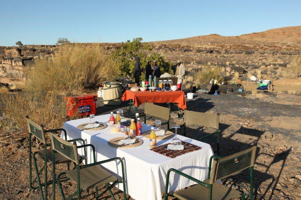 Namibia_Frühstück Fish River Wanderung