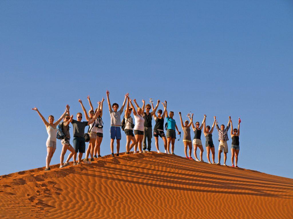 Namibia Campingsafari Sossuvlei Dünen Drifters Reisegruppe Iwanowskis Reisen - afrika.de