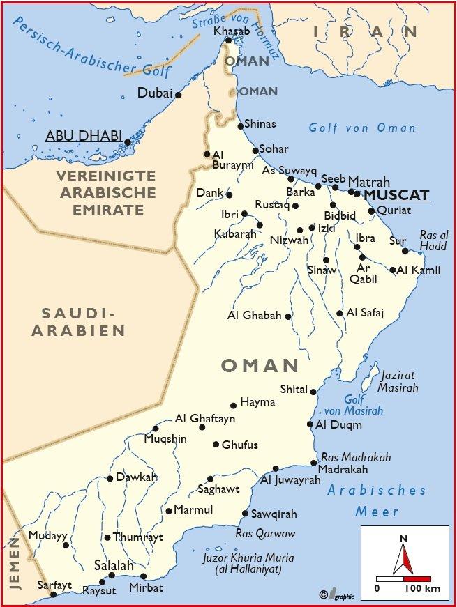 Oman Maskat Muskat Karte Iwanowskis Reisen - afrika.de