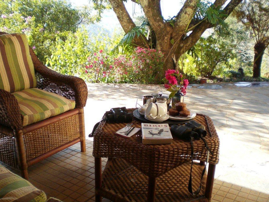 Südafrika Mpumalanga Porcupine Ridge Guest House Terrasse Iwanowskis Reisen - afrika.de