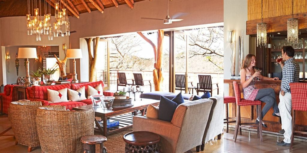 Südafrika Hluhluwe Thanda Main Lodge Lounge Iwanowskis Reisen - afrika.de