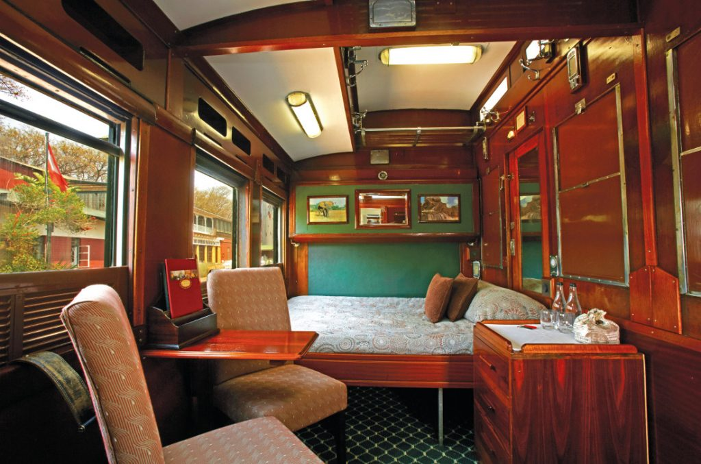 Südafrika Simbabwe Mosambik Shongololo Express Emerald Kabine Iwanowskis Reisen - afrika.de
