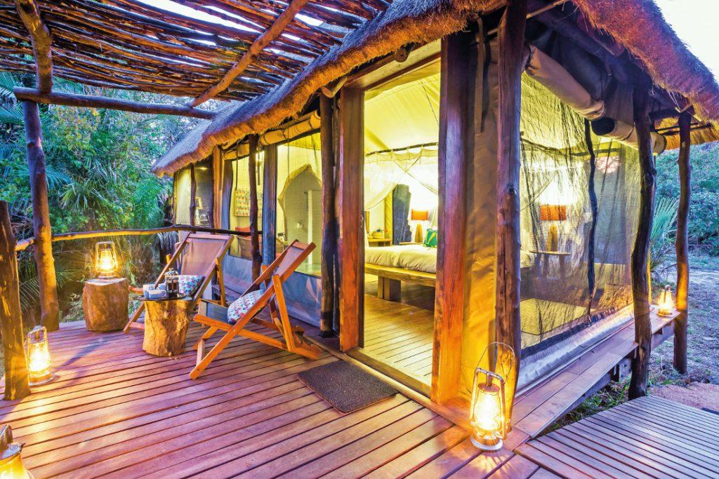Sambia Kafue National Park Kaingu Safari Lodge Safarizelt Iwanowskis Reisen - afrika.de