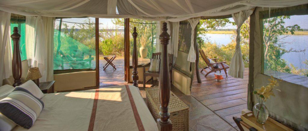 Sambia Lower Zambezi National Park Kasaka River Lodge Safarizelt Iwanowskis Reisen - afrika.de