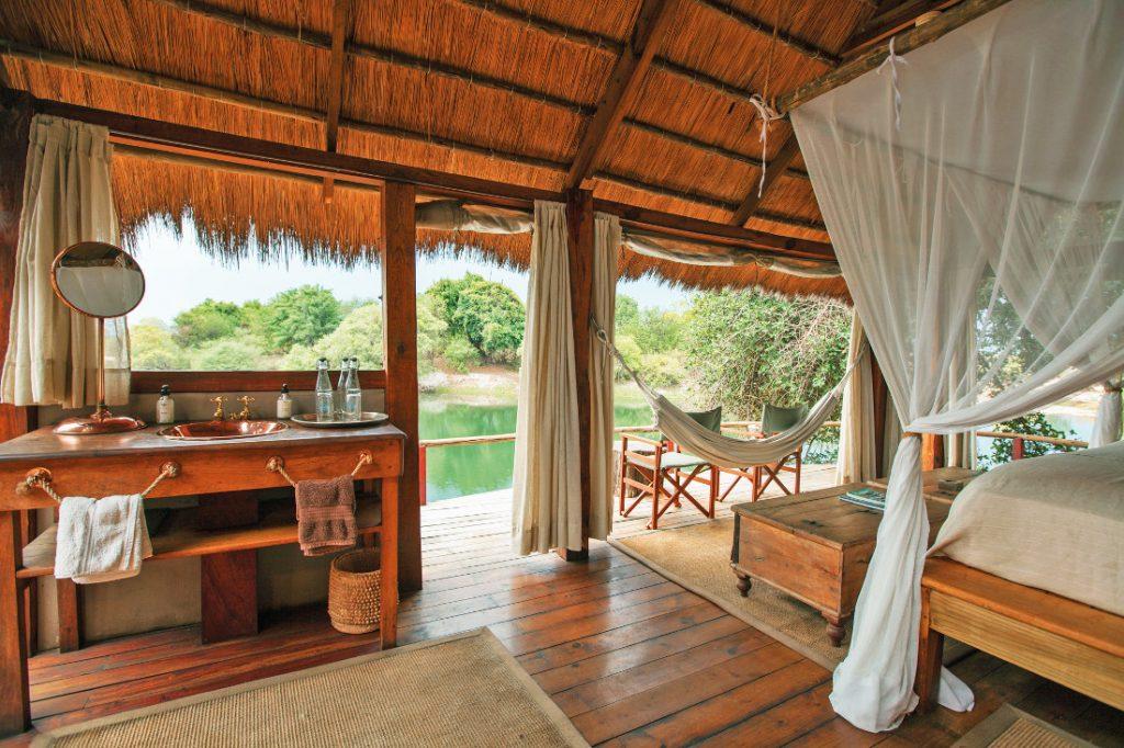 Sambia Livingstone Sindabezi Island Camp Unterkunft Iwanowskis Reisen - afrika.de