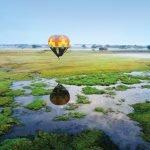 Sambia Busanga Plains Ballonfahrt Iwanowskis Reisen - afrika.de