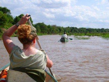 Sambia Kanufahrt Lower Zambezi Iwanowskis Reisen - afrika.de