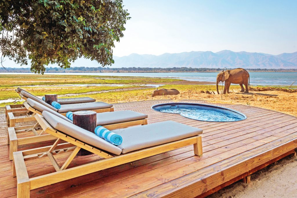 Simbabwe Mana Pools National Park Little Ruckomechi Pooldeck Iwanowskis Reisen - afrika.de