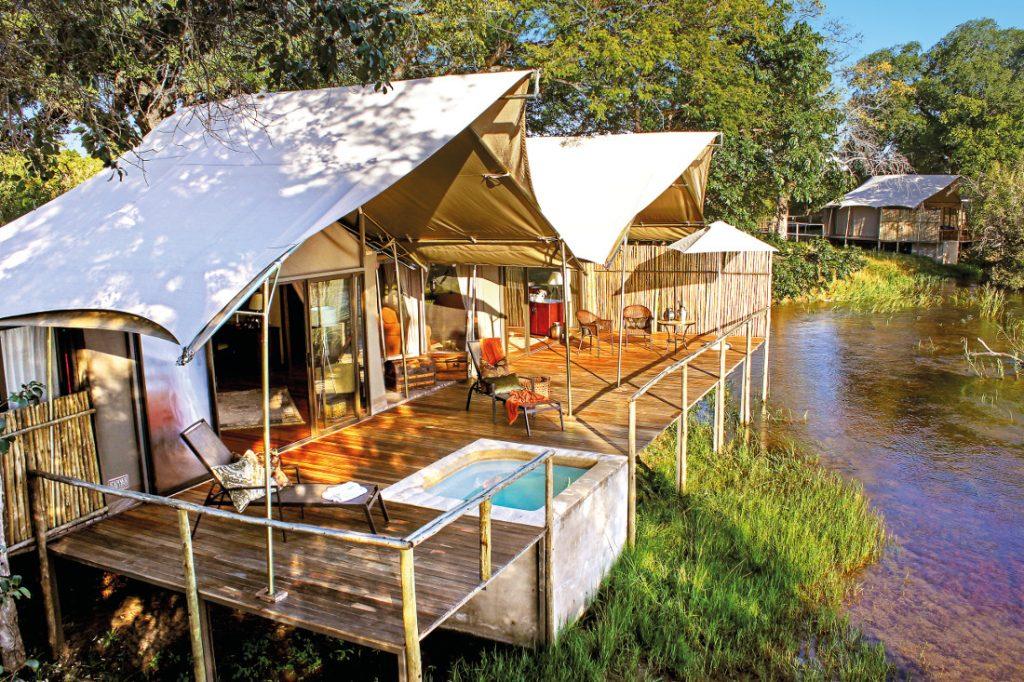 Simbabwe Victoria Falls Zambezi Sands Zeltunterkunft Iwanowskis Reisen - afrika.de