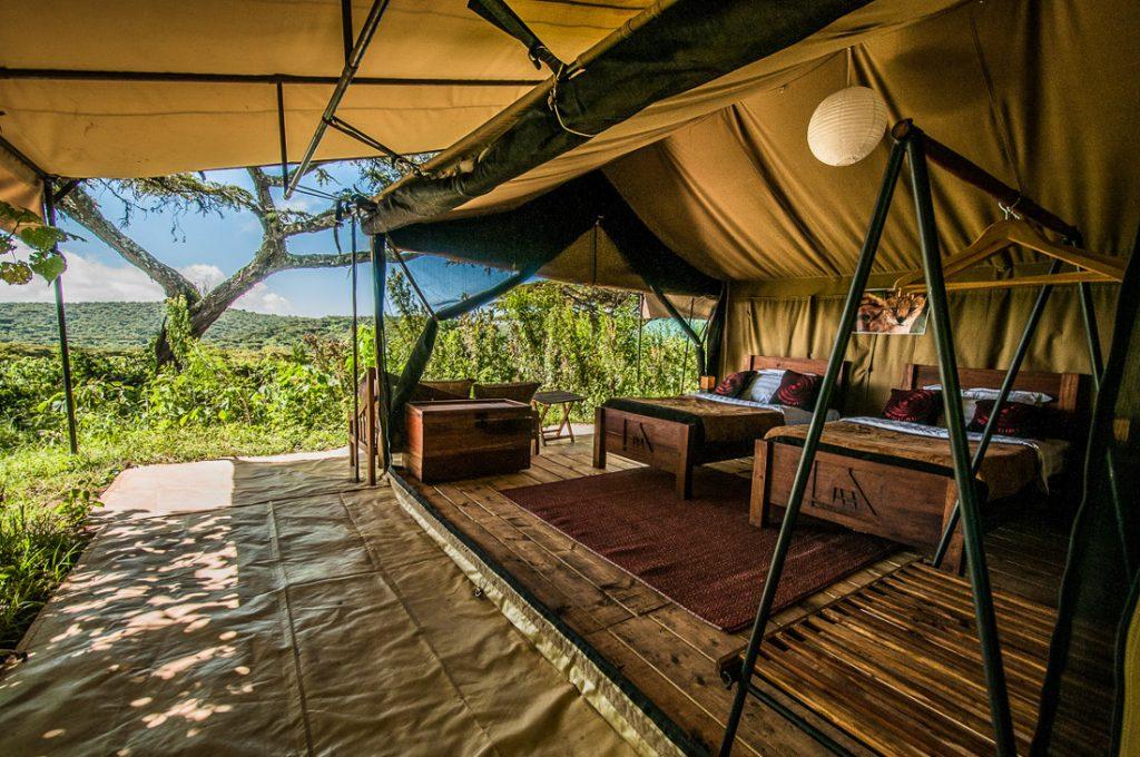 Tansania Ngorongoro Krater Angata Ngorongoro Camp Zeltunterkunft Iwanowskis Reisen - afrika.de