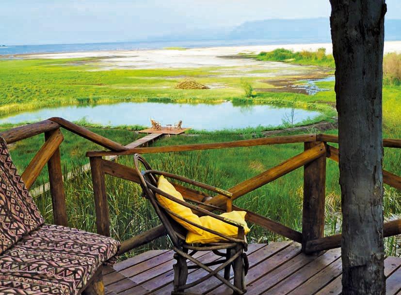 Tansania Lake Eyasi Kisima Ngeda Tented Camp Ausblick Iwanowskis Reisen - afrika.de