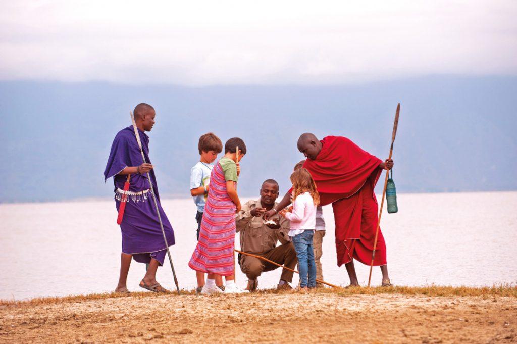 Tansania Tarangire National Park Maramboi Tented Camp Safari Kinder Iwanowskis Reisen - afrika.de