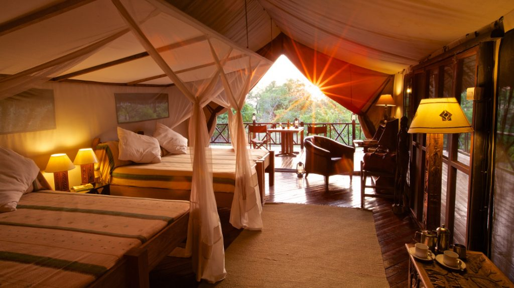 Tansania Selous Game Reserve Rufiji River Camp Zeltunterkunft Iwanowskis Reisen - afrika.de